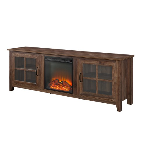 Admirable Farmhouse Wood Fireplace Glass Door Tv Stand Saracina Home Download Free Architecture Designs Scobabritishbridgeorg