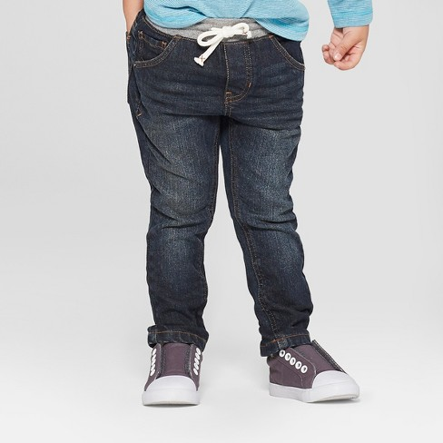 Toddler Boys' Pull-On Skinny Jeans - Cat & Jack™ Dark Blue - image 1 of 3