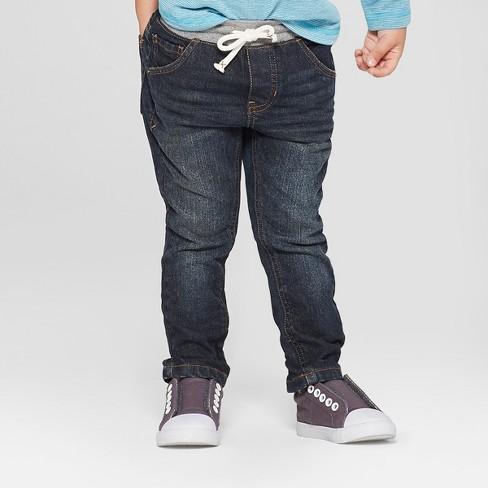 Toddler Boys Pull On Skinny Jeans Cat Amp Jack Dark Blue