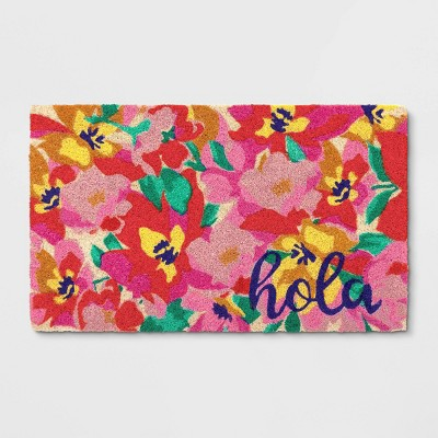1'6 X2'6 /18 X30  Floral Tufted Doormat Poppy - Opalhouse™