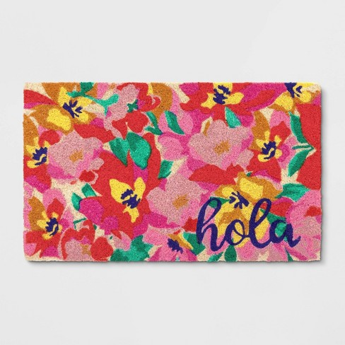 """1'6""""X2'6""""/18""""X30"""" Floral Tufted Doormat Poppy - Opalhouse™ - image 1 of 6"""