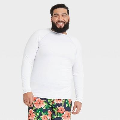 Men's Regular Fit Long Sleeve Rash Guard Swim Shirt - Goodfellow & Co™