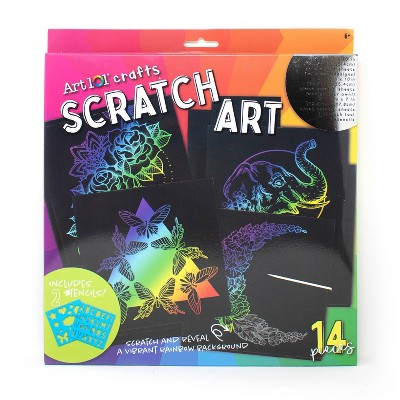 14pc Art 101 Crafts Scratch Art - DM Creations