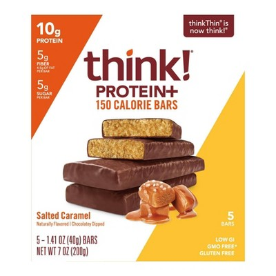 think! Protein + 150 Calorie Salted Caramel Bars - 5ct