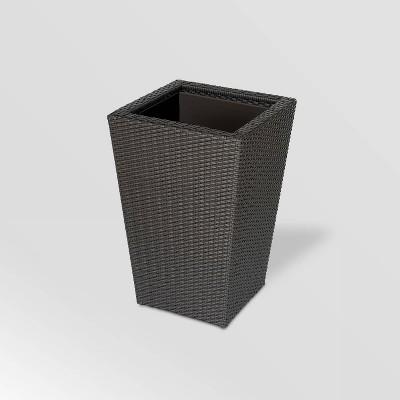 Resin Wicker Vista Planter Gray - DMC Products