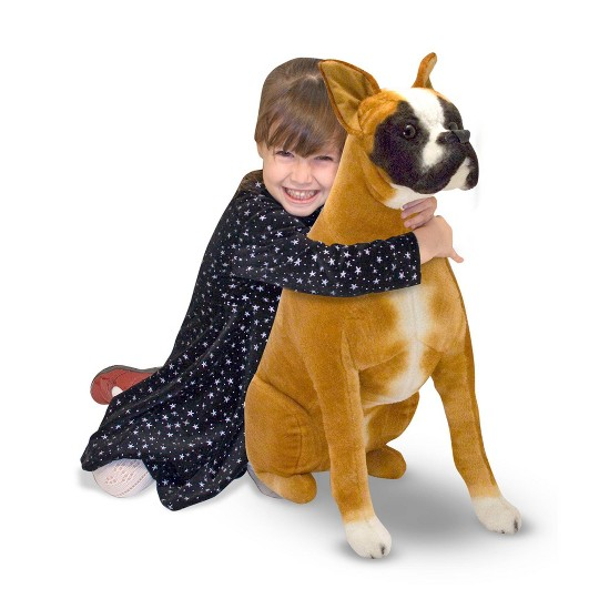 Melissa & Doug Giant Boxer - Lifelike Stuffed Animal Dog image number null