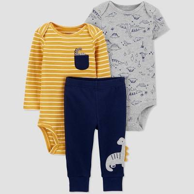 Baby Boys' Dino Top & Bottom Set - Just One You® made by carter's Yellow Newborn