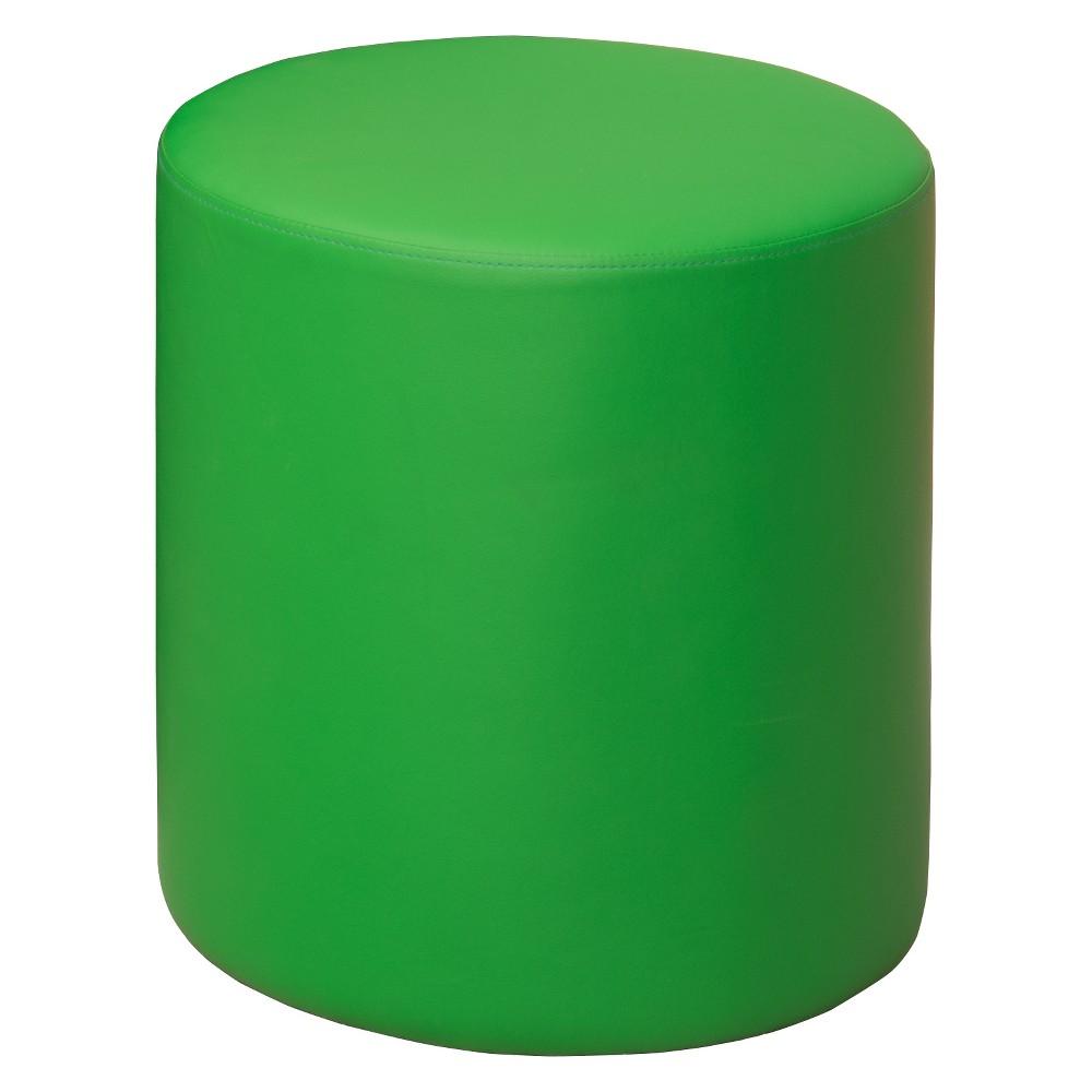 Image of Logan Round Ottoman Green - Niche