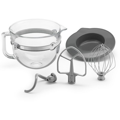 KitchenAid F-Series 6-Quart Glass Bowl Accessory Bundle - KSMF6GB