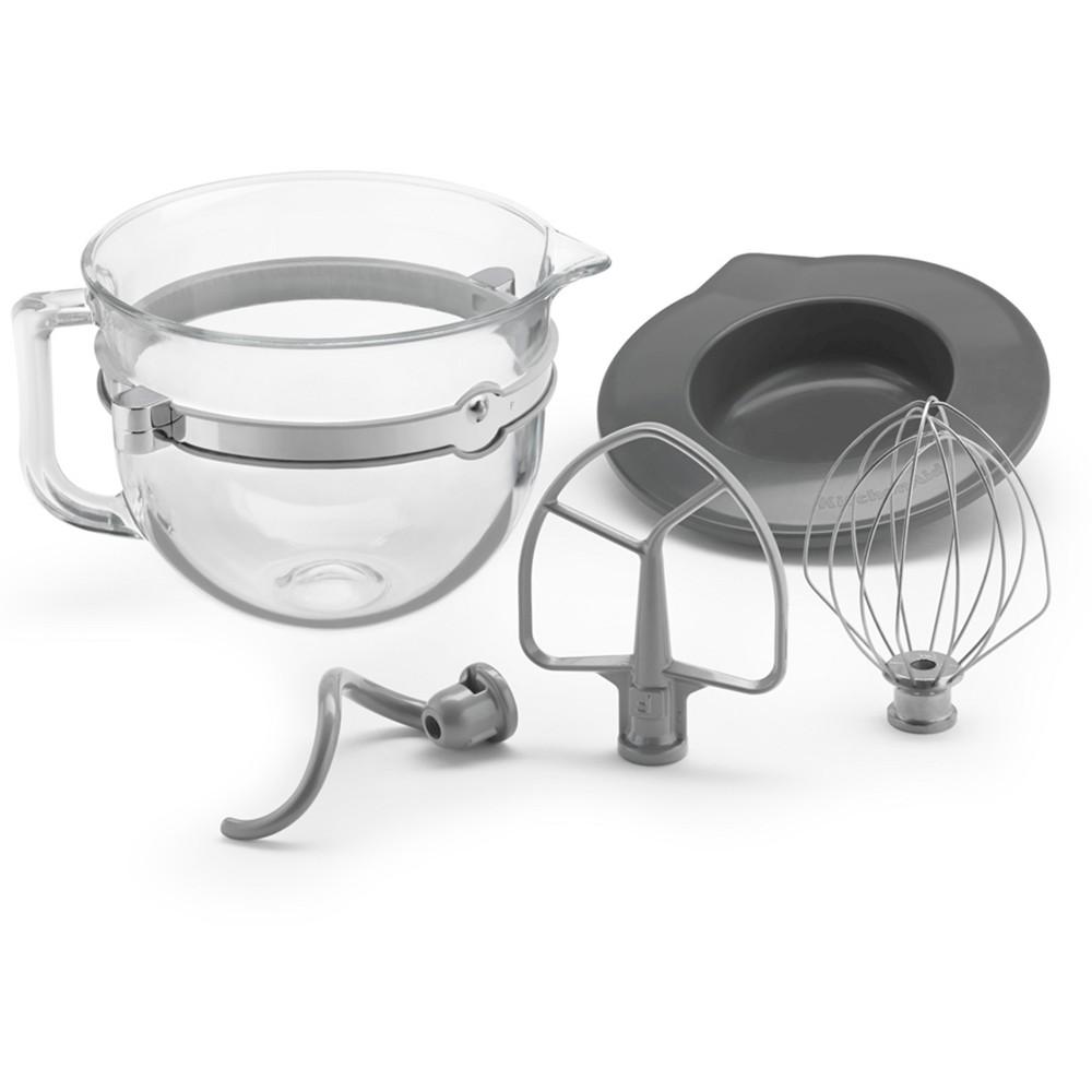 KitchenAid F-Series 6-Quart Glass Bowl Accessory Bundle - KSMF6GB, Clear
