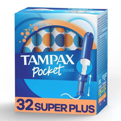 Tampax Pocket Pearl Super Plus Absorbency with LeakGuard Braid & Unscented Plastic Tampons - image 1 of 4