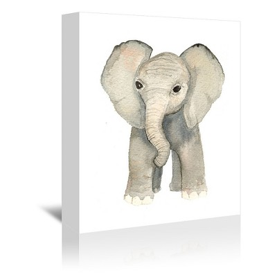 Americanflat Elephant by Cami Monet Wrapped Canvas