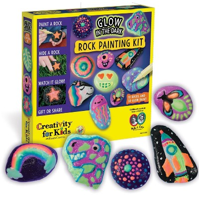 Creativity for Kids Glow in the Dark Rock Painting Kit