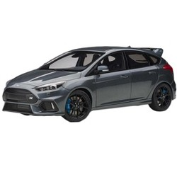 2016 Ford Focus RS Stealth Gray Metallic 1/18 Model Car by Autoart