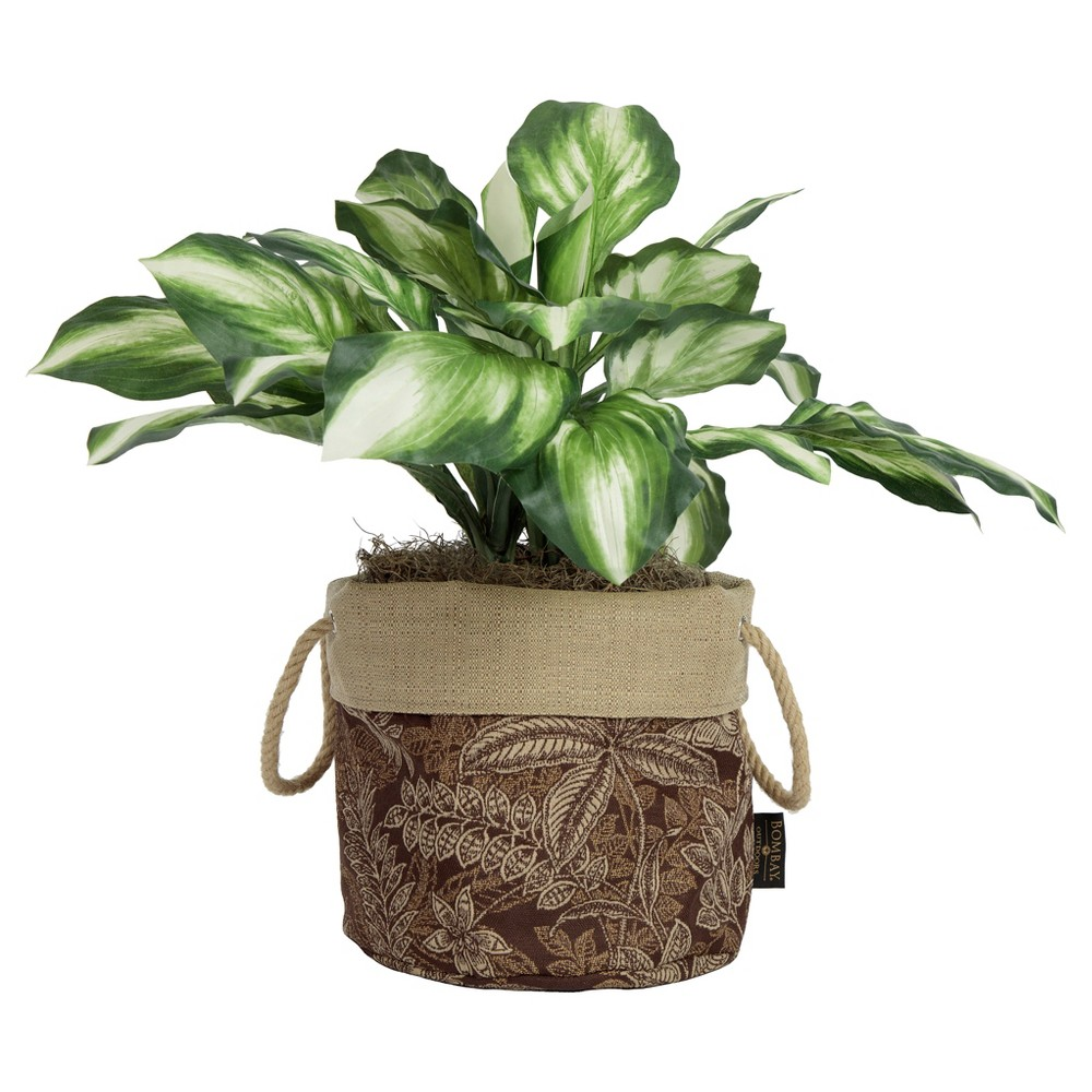 "Image of ""10"""" Aviana Fabric Floor Planter In Palmetto Espresso - Brown - Bombay Outdoors"""