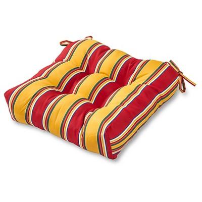 Carnival Stripe Outdoor Seat Cushion - Kensington Garden