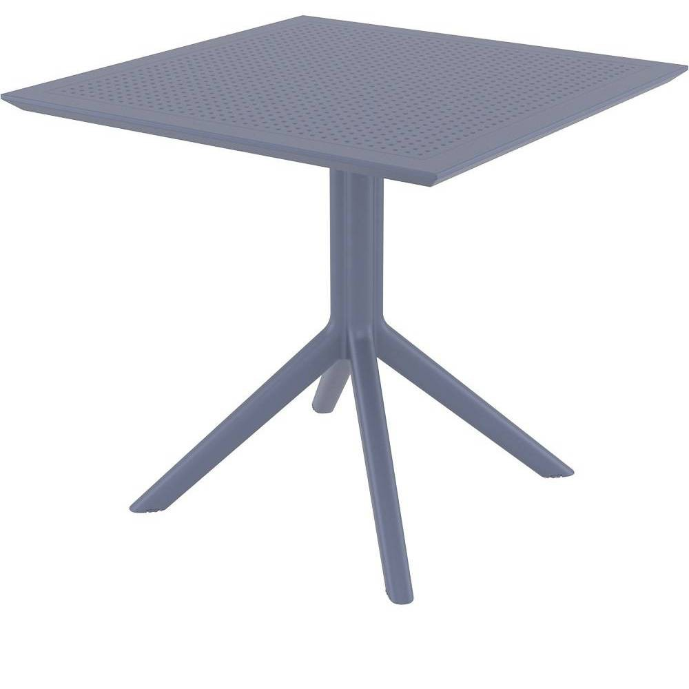 "Image of ""31.5"""" x 31.5"""" Sky Patio Table - Dark Gray - Resol"""