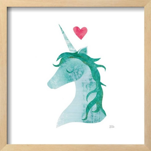 Unicorn Magic II Heart Sq Pink by Melissa Averinos Framed Art Print - Art.com - image 1 of 3