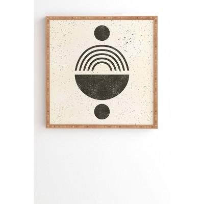 "12"" x 12"" Pauline Stanley Rainbow Totem Framed Wall Art Black/Cream - Deny Designs"