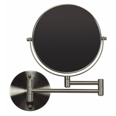 "19.56"" Round Wall Mount Magnifying Mirror Brushed Nickel - American Imaginations"