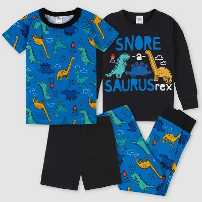 Gerber Toddler Boys' 4pc Pajama Set - Blue/Black