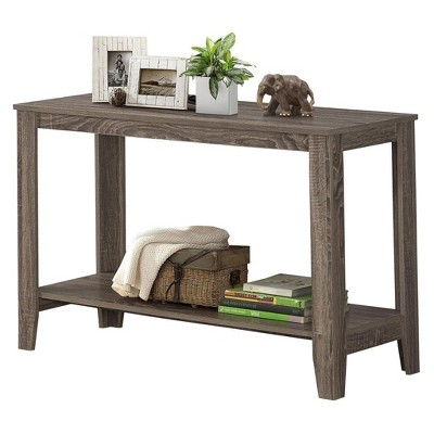 Monarch Specialties Contemporary Accent Rectangular Side End Table, Dark Taupe : Target