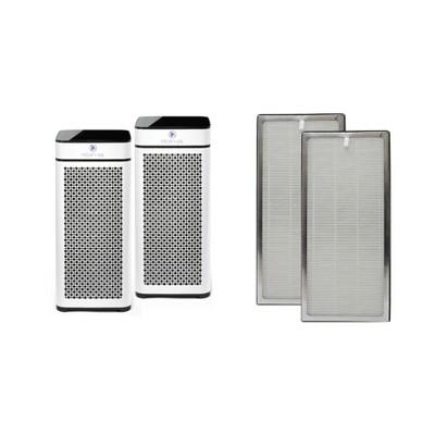 Medify Air MA-40-W2 Medical Grade HEPA Filter Tower Air Purifier (2 Pack) w/Medify Air MA-40 Air Purifier H13 HEPA Replacement Filter Set (2 Pack)