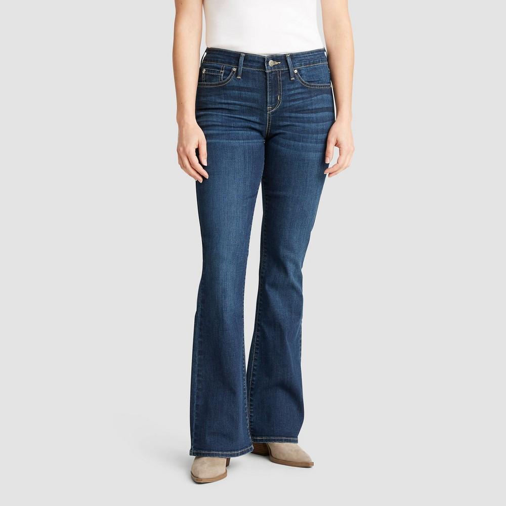 Denizen 174 From Levi 39 S 174 Women 39 S Mid Rise Bootcut Jeans Dark Blue 18
