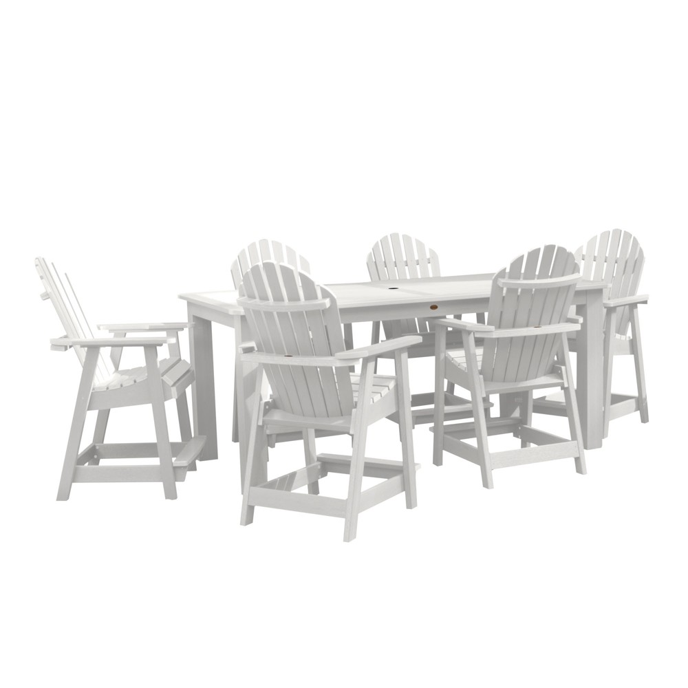 "Image of ""Hamilton 7pc Rectangular Counter Height Dining Set 84"""" X 42"""" White - Highwood"""