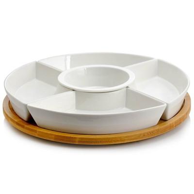 6pc Stoneware Beautiful Party Serving Set White - Elama