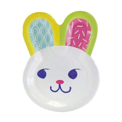 10ct Easter Bunny Shaped Paper Dinner Plate - Spritz™ - image 1 of 1