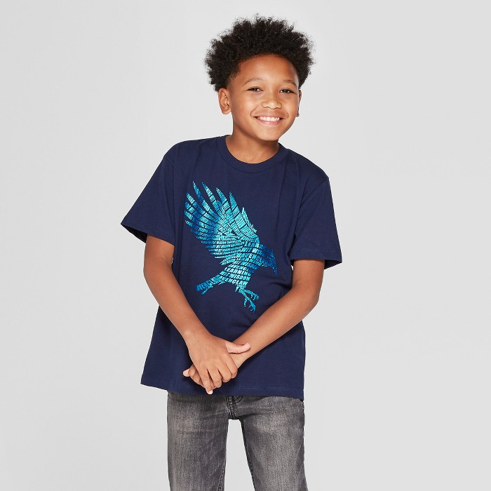 Boys' Harry Potter Ravenclaw Short Sleeve Graphic T-Shirt - Navy - image 1 of 3