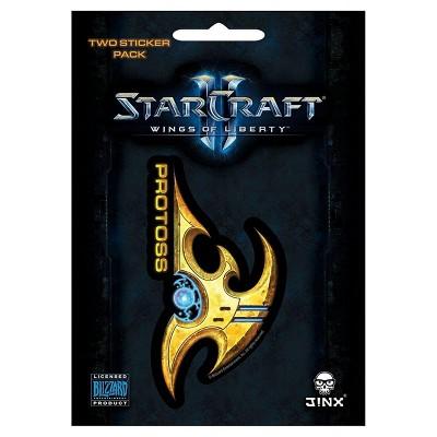 JINX Inc. StarCraft II: Wings of Liberty Multi-size Sticker 2-Pack: Protoss, Yellow
