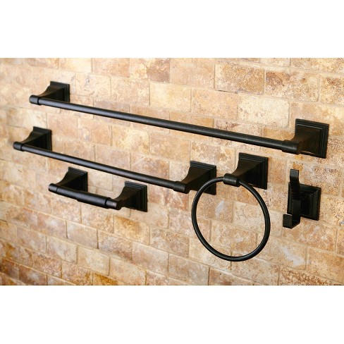 Oil Rubbed Bronze 5 Piece Bathroom Accessory Set Kingston Br Target