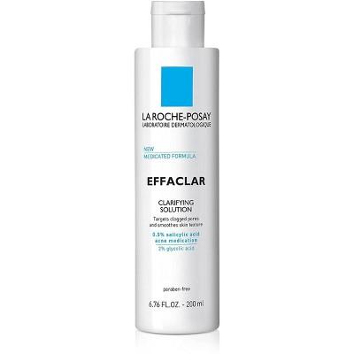 La Roche Posay Effaclar Face Salicylic Acid Toner Clarifying Solution with Medicated Formula - 6.76oz