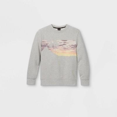 Boys' Palm Tree Scene Graphic Sweatshirt - art class™ Gray
