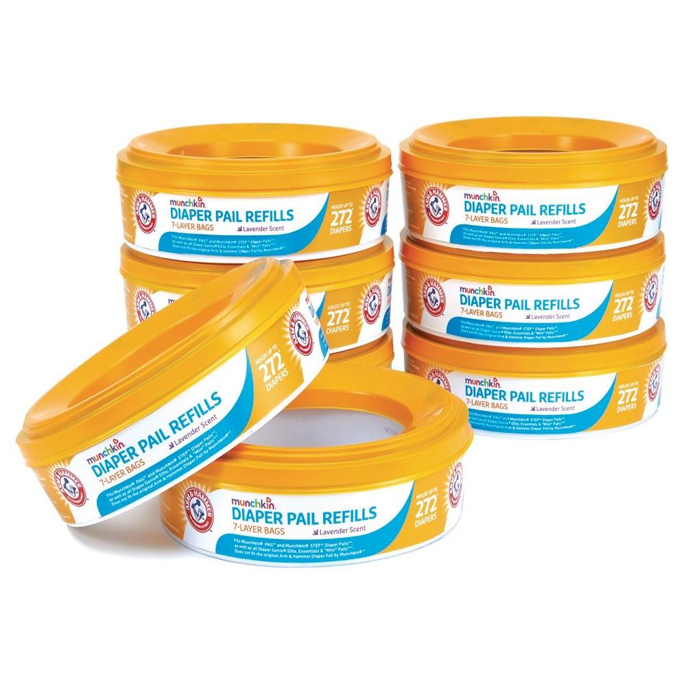 Munchkin Arm & Hammer Diaper Pail Refill Rings - 8 Pack, White