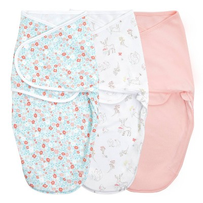 Aden + Anais essentials wrap swaddles fairytale flowers - 3pk