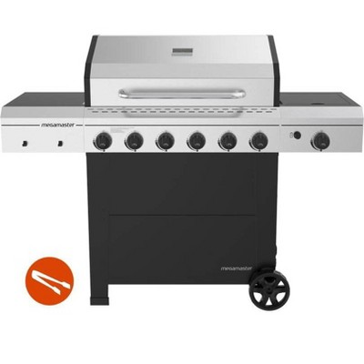 Megamaster 6-Burner Gas Grill with Stainless Steel Tong 720-0983CTG
