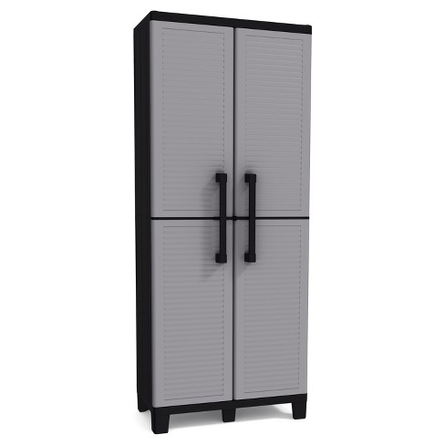 Space Winner Tall Utility Storage Cabinet - Black And Gray - Keter - image 1 of 8