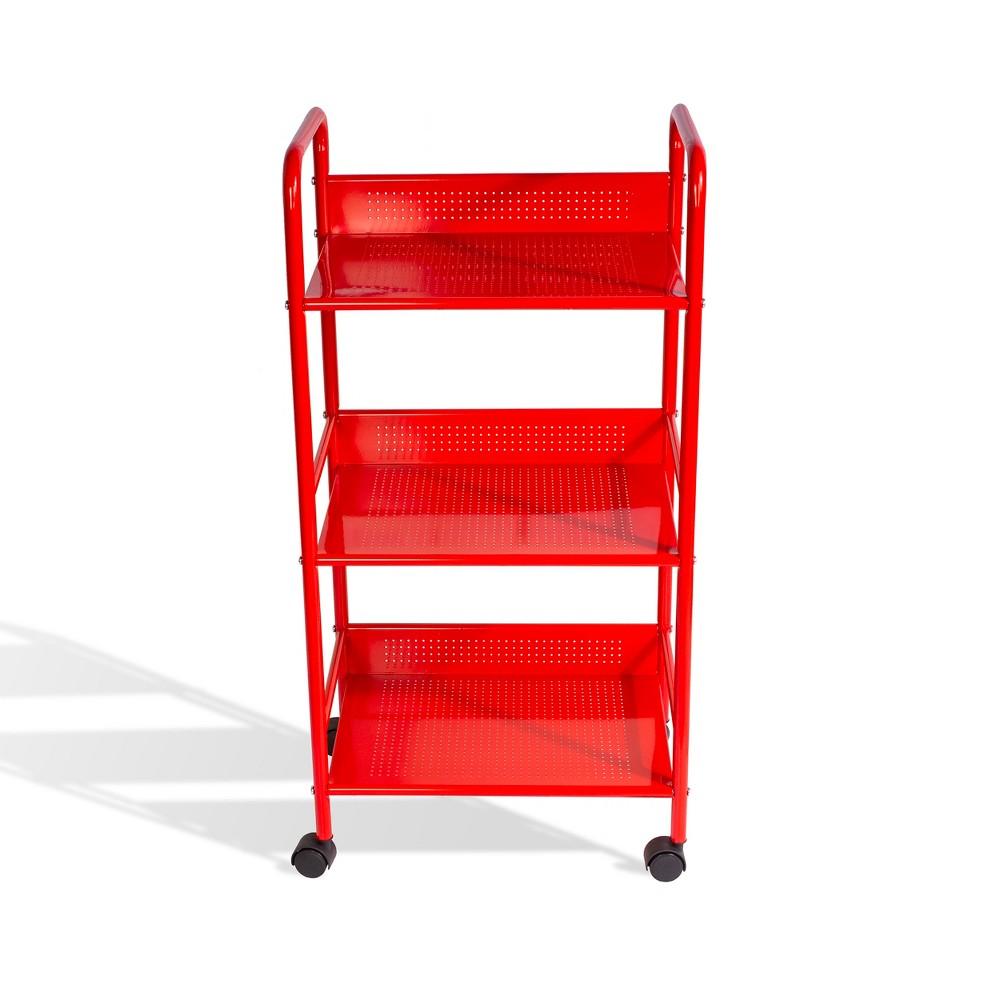 3 Tier Kitchen Cart Red - urb Space