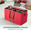 """OSTO Christmas Figurine Storage Box Fits 8 Figurines of 15"""" in Height; Lightweight Non-Woven, Includes 4 Carry Handles, Card Slot, and Pockets - image 2 of 4"""
