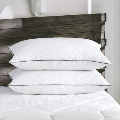 Puredown Embroidery White Goose Feather Down Pillow