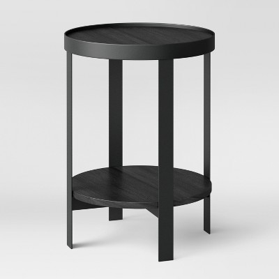 Reihl Metal Round Accent Table Black - Project 62™