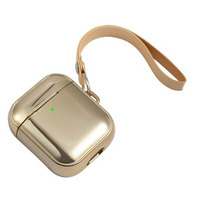 Insten Case Compatible with AirPods 1 & 2 - Glitter Plating Protective Skin Cover with Hand Strap