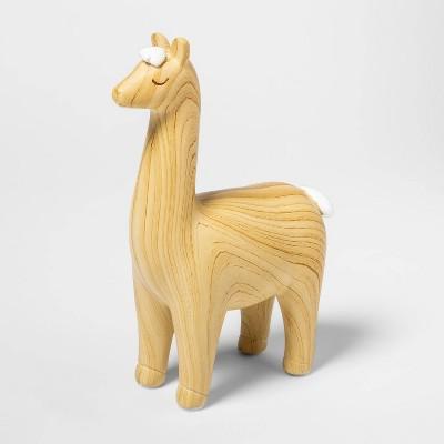 Decorative Figurine - Cloud Island™ Wooden Llama