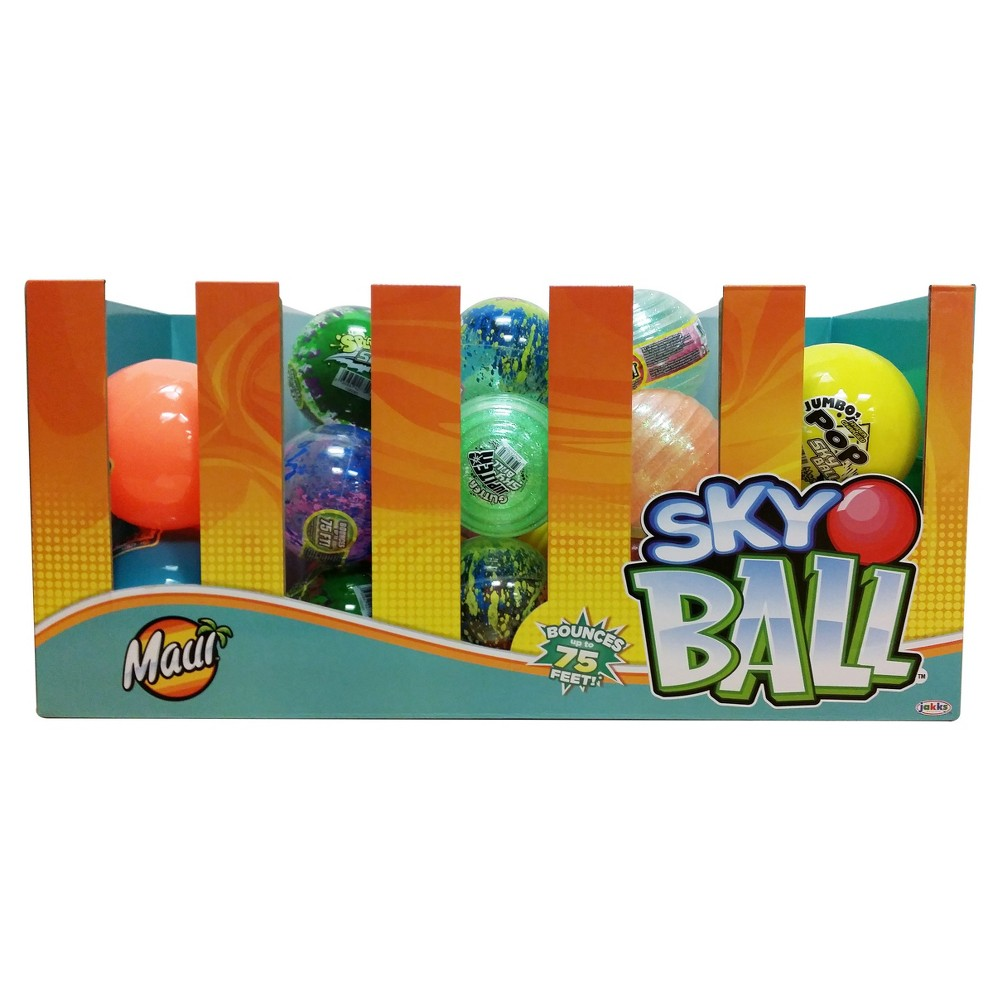 Maui Toys Skyball 4  and 5  with Custom Pdq, Multi-Colored Maui Toys Sky Ball is the highest bouncing ball ever. They provide hours of fun, challenging your friends, challenging yourself playing catch or handball. Color: Multi-Colored. Gender: Unisex.