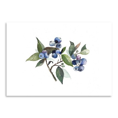 Americanflat Blueberry by Cami Monet Poster