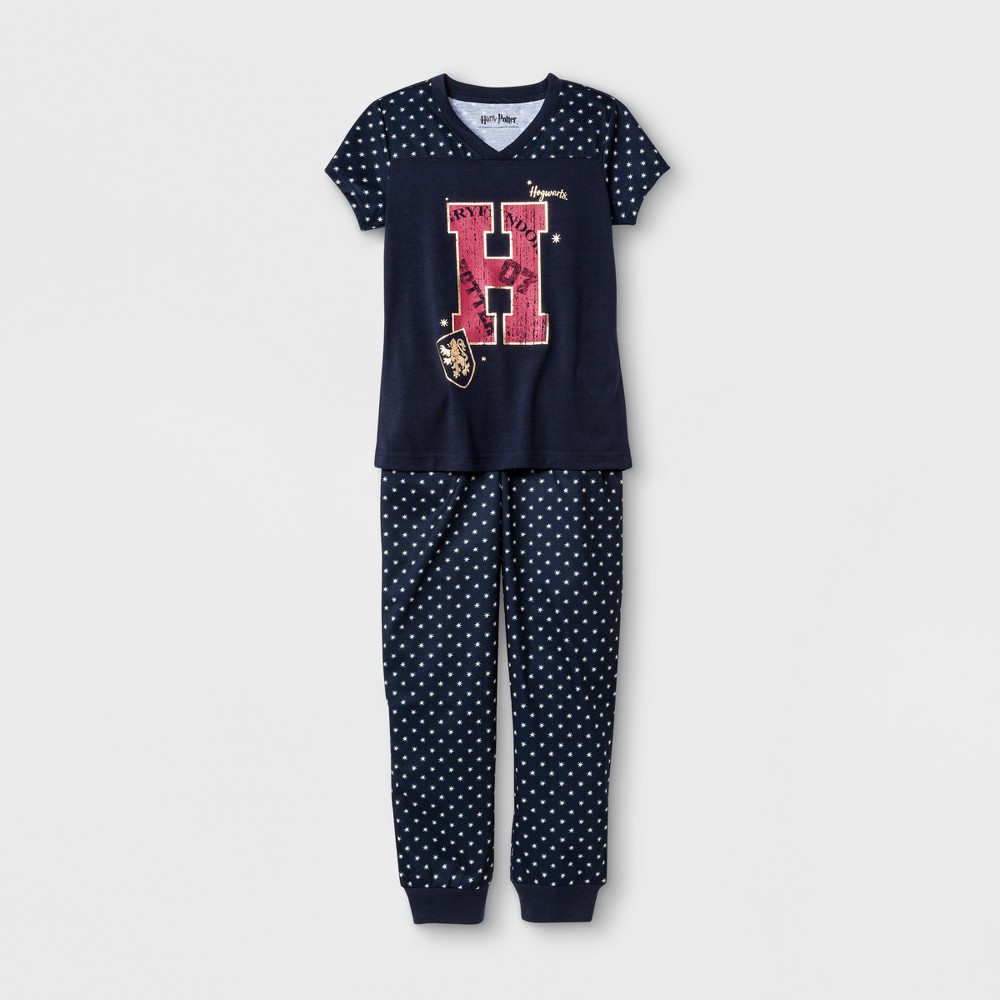 Girls' Harry Potter Graphic 2pc Pajama Set - Navy XL, Multicolored