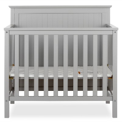 Dream On Me Jasmin 4-in-1 Convertible Mini Crib - Gray